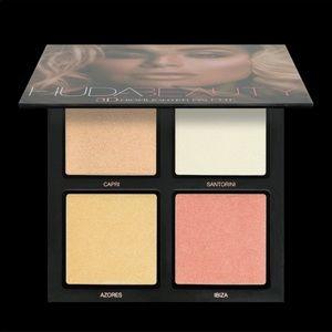 Huda Beauty 3D Highlighter Palette-Pink Sands-NIB